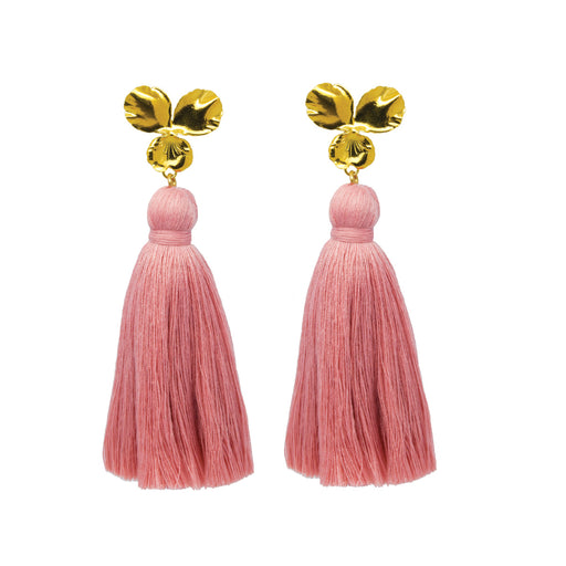 Margo Tassel Earrings Blush