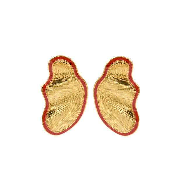Petra Earrings Red