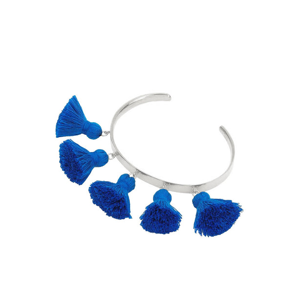 Raquel Tassel Bangle Blue