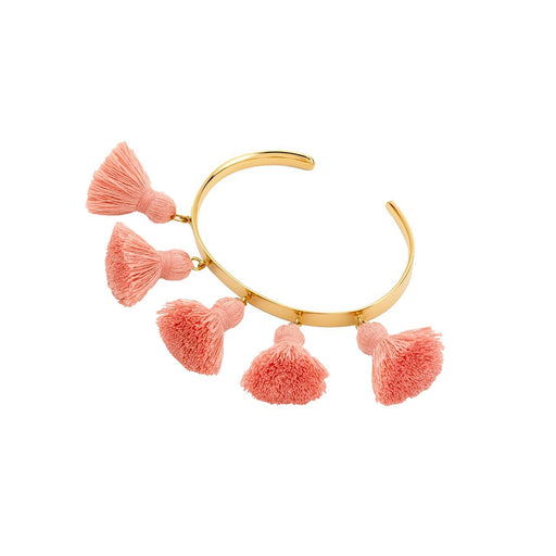 Raquel Tassel Bangle Salmon