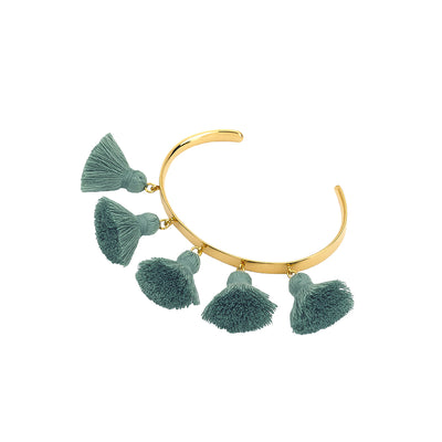 Raquel Tassel Bangle Verdigris