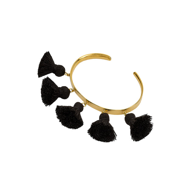 Raquel Tassel Bangle Black