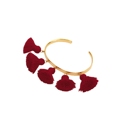 Raquel Tassel Bangle Burgundy