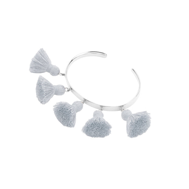 Raquel Tassel Bangle Light Grey