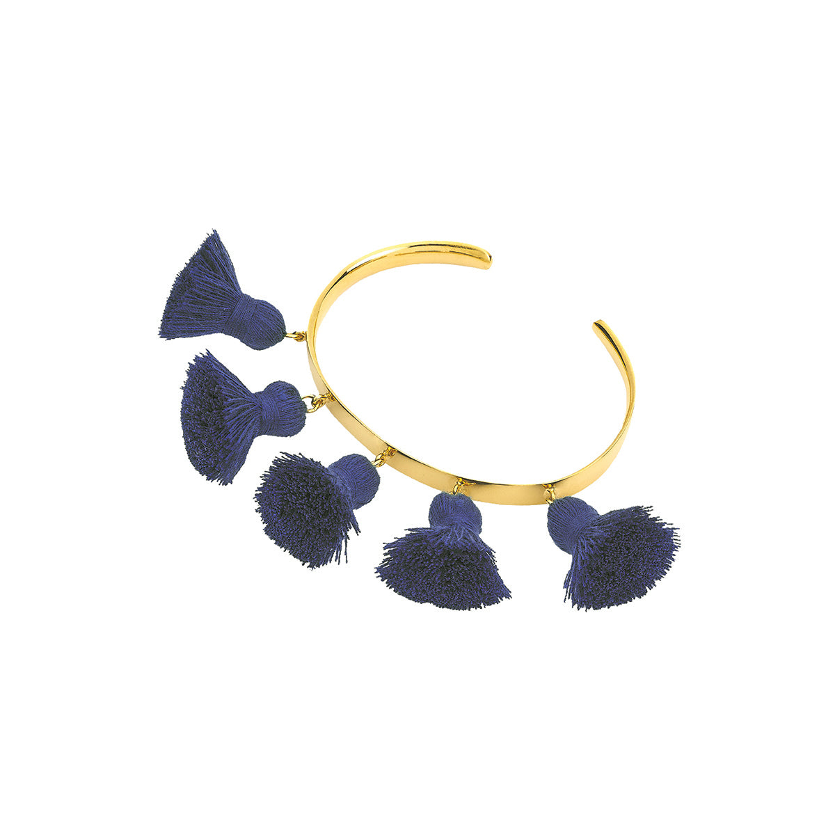 Raquel Tassel Bangle Navy