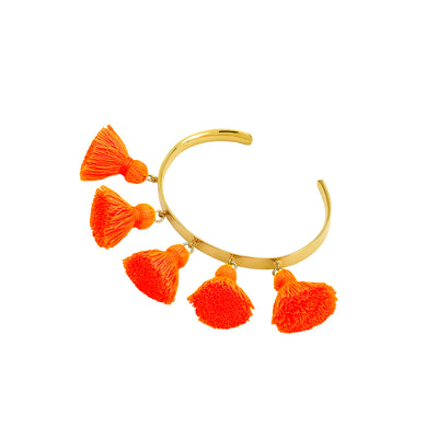 Raquel Tassel Bangle Orange