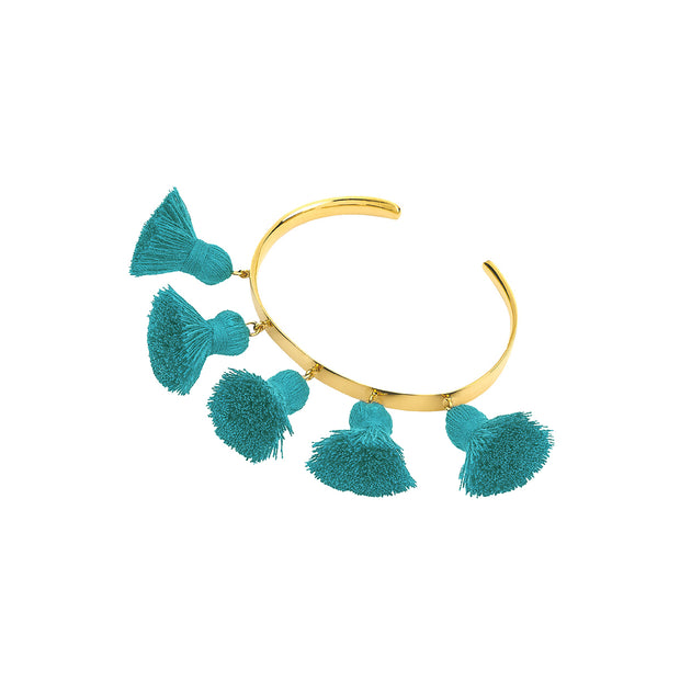 Raquel Tassel Bangle Peacock