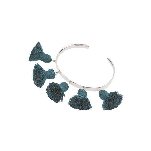 Raquel Tassel Bangle Teal
