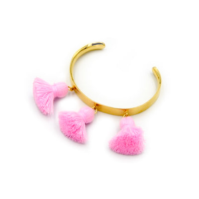 Raquel Tassel Bangle Kids Bubblegum