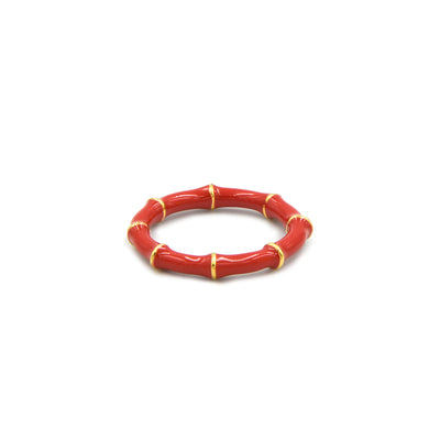 Solange Bamboo Ring Red