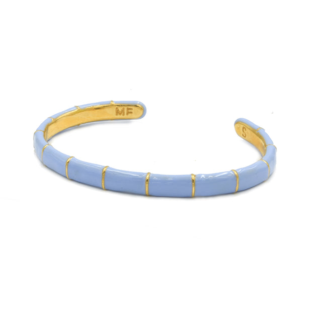 Solange Bamboo Enamel Bangle Blue