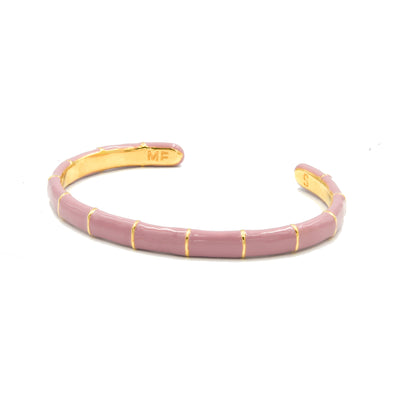Solange Bamboo Enamel Bangle Blush
