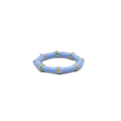 Solange Bamboo Ring Blue