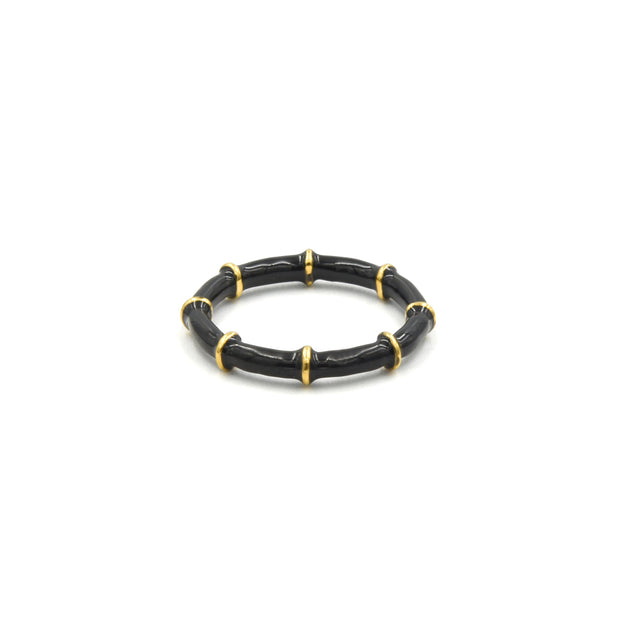 Solange Bamboo Ring Black