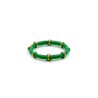 Solange Bamboo Ring Emerald