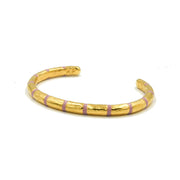 Blake Bamboo Enamel Bangle Blush