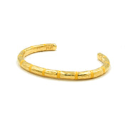 Blake Bamboo Enamel Bangle Marigold