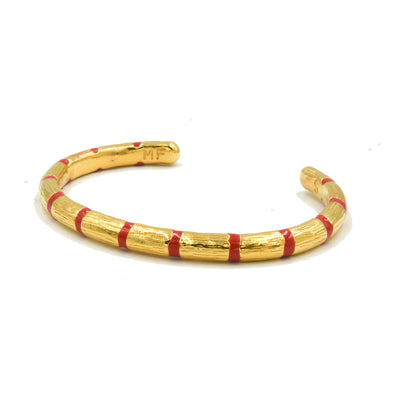 Blake Bamboo Enamel Bangle Red