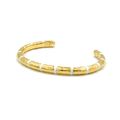 Blake Bamboo Bangle White