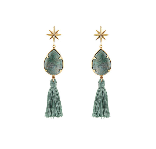 Ziggy Earrings Green