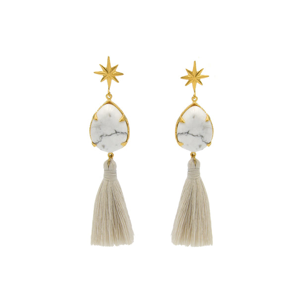 Ziggy Earrings White