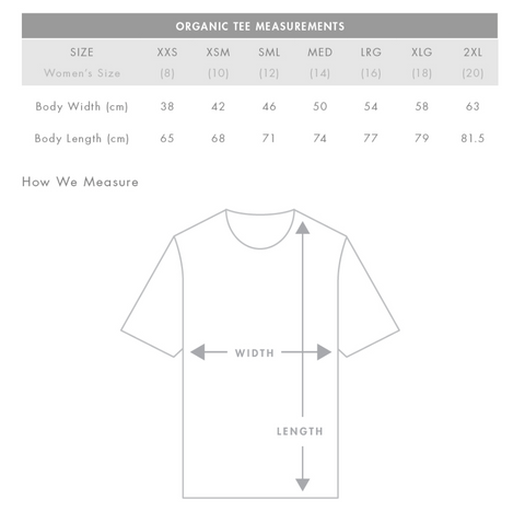 Tee Measurements