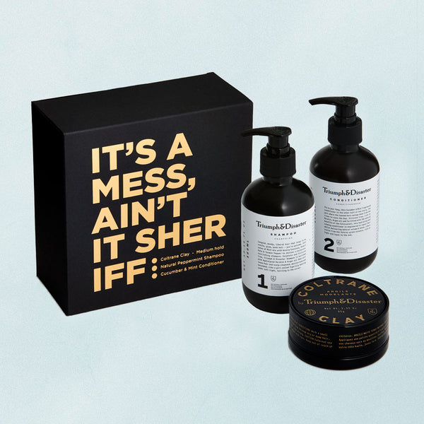 It's a Mess Ain't it Sheriff | Hair Product Kits | Coltrane Clay | Triumph & Disaster NZ