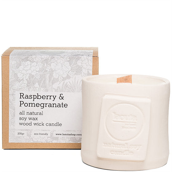 Natural soy wax candle - raspberry and pomegranate