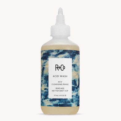 R+Co Acid Wash ACV helps to strip hair and cleanse