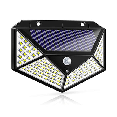 100 leds solar wall light