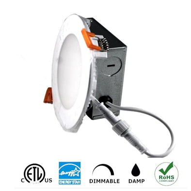 "4"" LED Recessed Slim Panel Light,9W with Junction Box, 550Lumen 12 Pack - lightled52.myshopify.com"