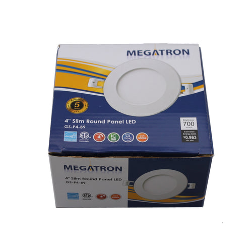 LED Panel Light 4Inch 700LM Dimmable Pack Megatron