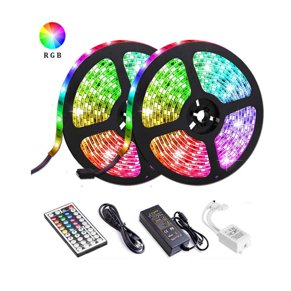 2x5Meter RGB LED Strip W/44Key IR Remote IP65 Water Proof