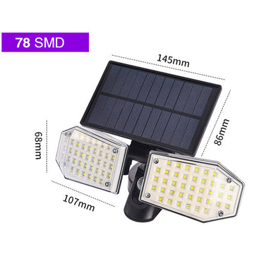 Solar Security LED Light 78LED