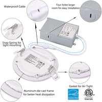 4 Inch Recessed Lighting 750LM 9W 3 Color CCT