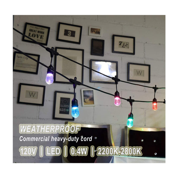 String Light LED Multi Color+Music Control 25FT