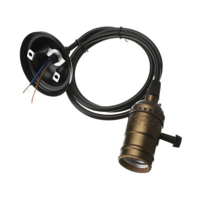 Ceiling Lamp holder E26 Switch Bronze