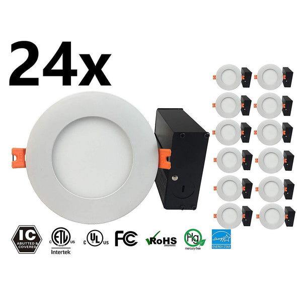 "4"" Slim Panel Light 9W 24Pack - lightled52.myshopify.com"