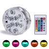LED Submersible RGB Battery Lights W/Remote LED Party Lights