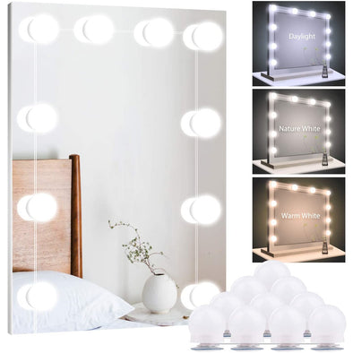 Vanity Mirror Light 10 Bulb USB 3Color Dimmable