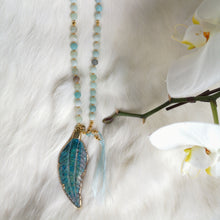 Load image into Gallery viewer, Amazonite Feather Mala