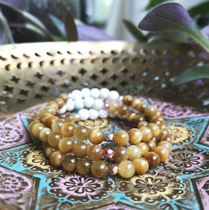 Golden Tiger's Eye Essential Oil Diffuser Bracelet