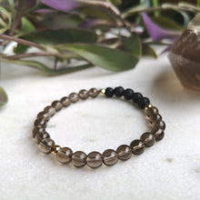 Load image into Gallery viewer, Smoky Quartz Essential Oil Diffuser Bracelet