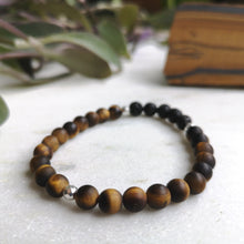 Load image into Gallery viewer, Tiger's Eye Essential Oil Diffuser Bracelet