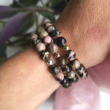 Load image into Gallery viewer, Rhodonite Essential Oil Diffuser Bracelet