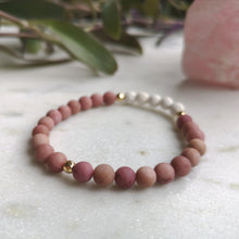 Load image into Gallery viewer, Rhodochrosite Essential Oil Diffuser Bracelet