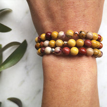 Load image into Gallery viewer, Mookaite Essential Oil Diffuser Bracelet