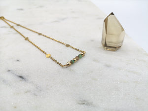 Chrysoprase Necklace - May Birthstone