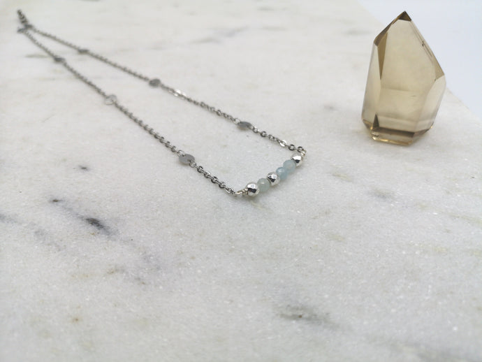 Aquamarine Necklace - March Birthstone