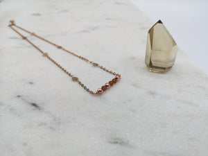 Garnet Necklace - January Birthstone